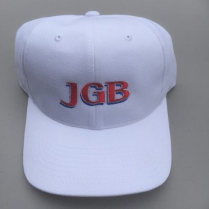 JGB Letters Hat White