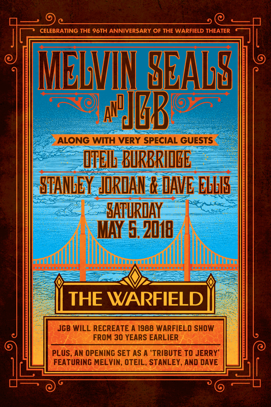 Melvin Seals and JGB at the Warfield